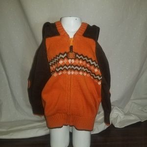 Gymboree baby zip front Halloween/Fall cardigan.